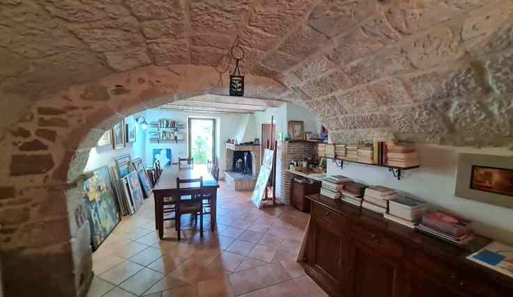 barrel vaulted home interior