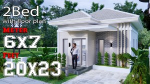 Small House Design 6x7M 20x23F Hip Roof Full Plans