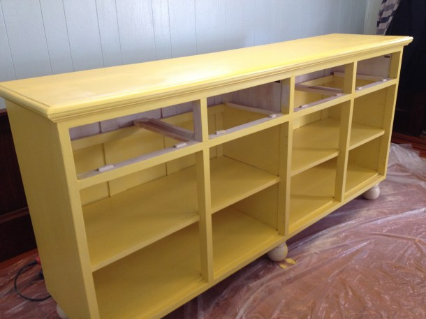 Yellow Paint Sideboard