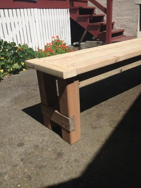 Hand-built bench