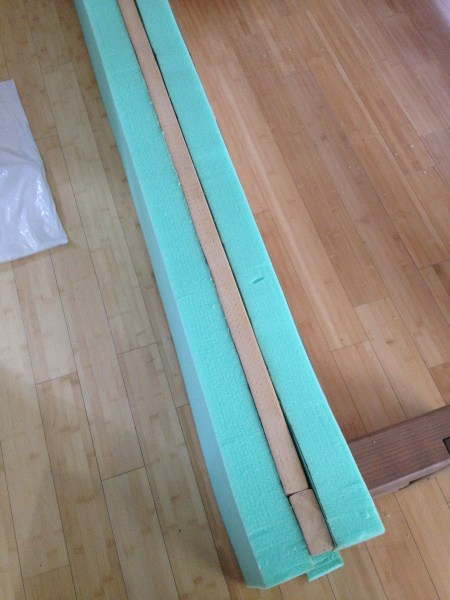 DIY Upholstered bench
