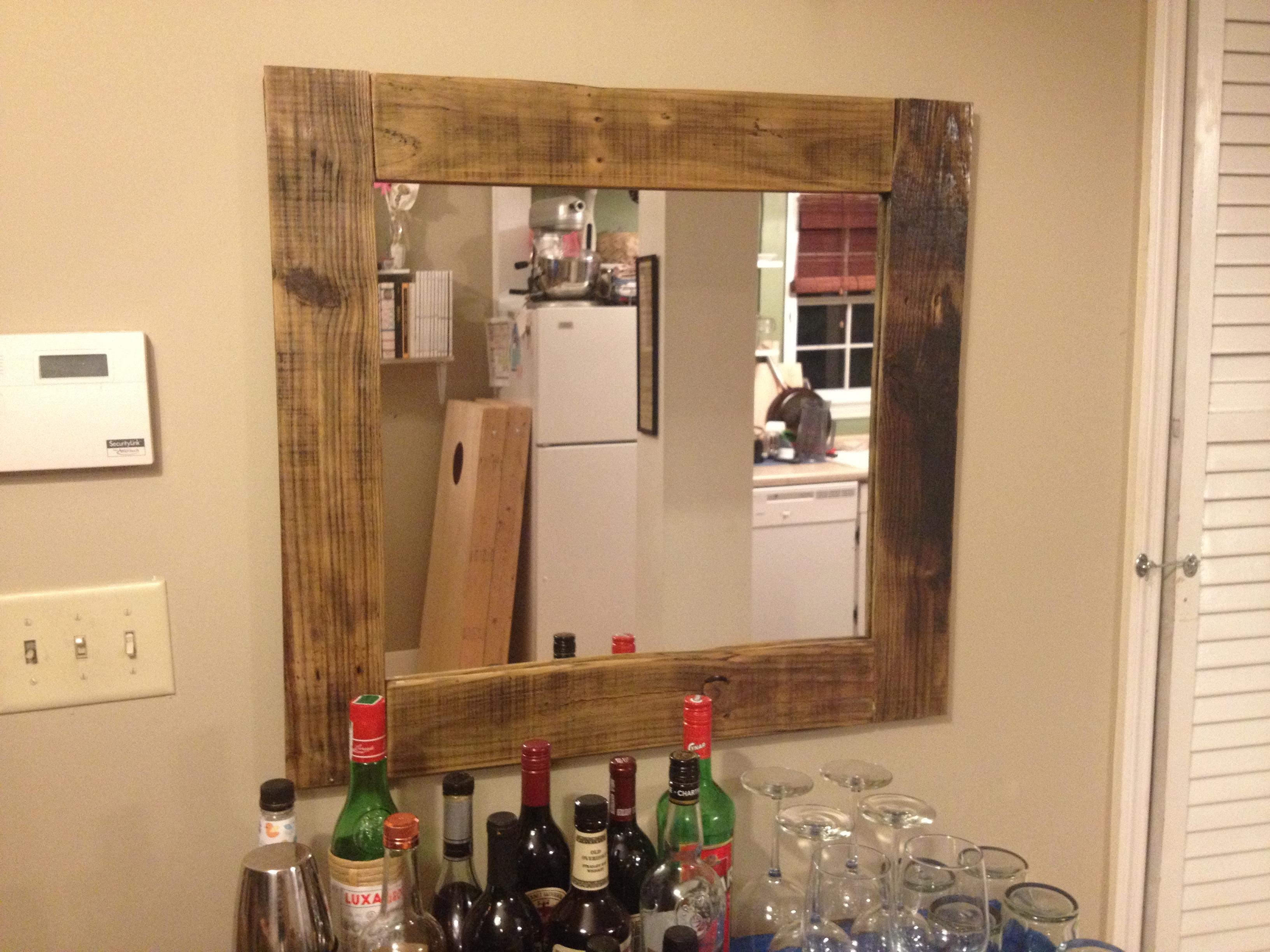 Upgrade rustic wood mirror jeuxipadfo Images