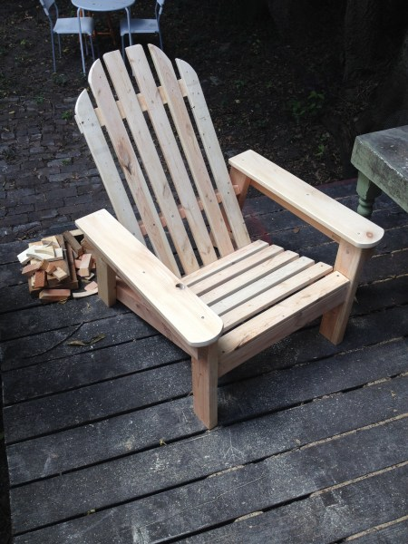 Hand-Built Adirondack Chair