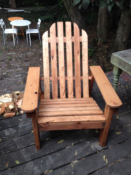 Update: Hand-Built Adirondack Chair