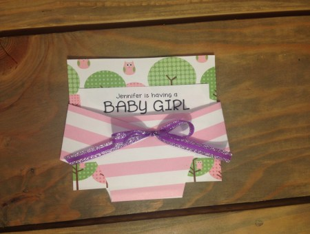 Tutorial: Baby Diaper Shower Invites