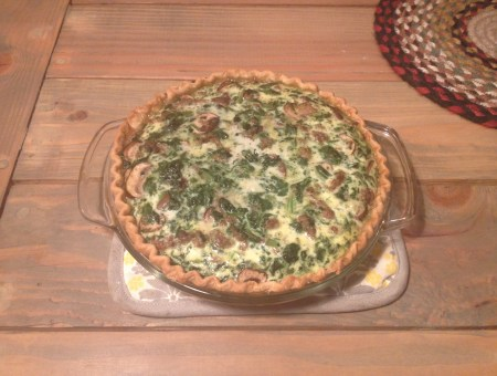 Breakfast for Dinner: Quiche || House. Food. Baby.