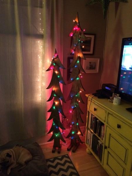 DIY Raw Wood Christmas Trees || House. Food. Baby.