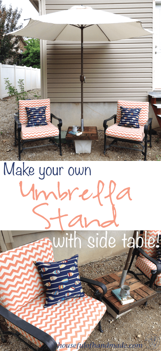 Make Your Own Umbrella Stand Side Table A Houseful Of