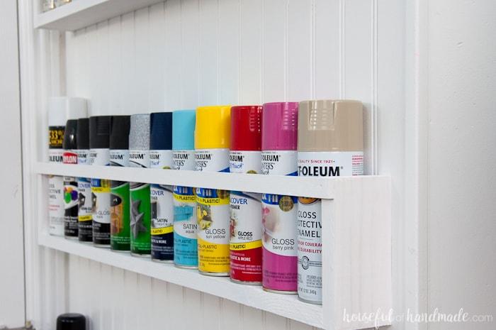 diy paint storage shelves office