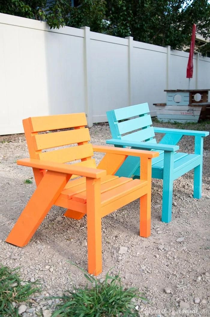 easy diy kids patio chairs houseful
