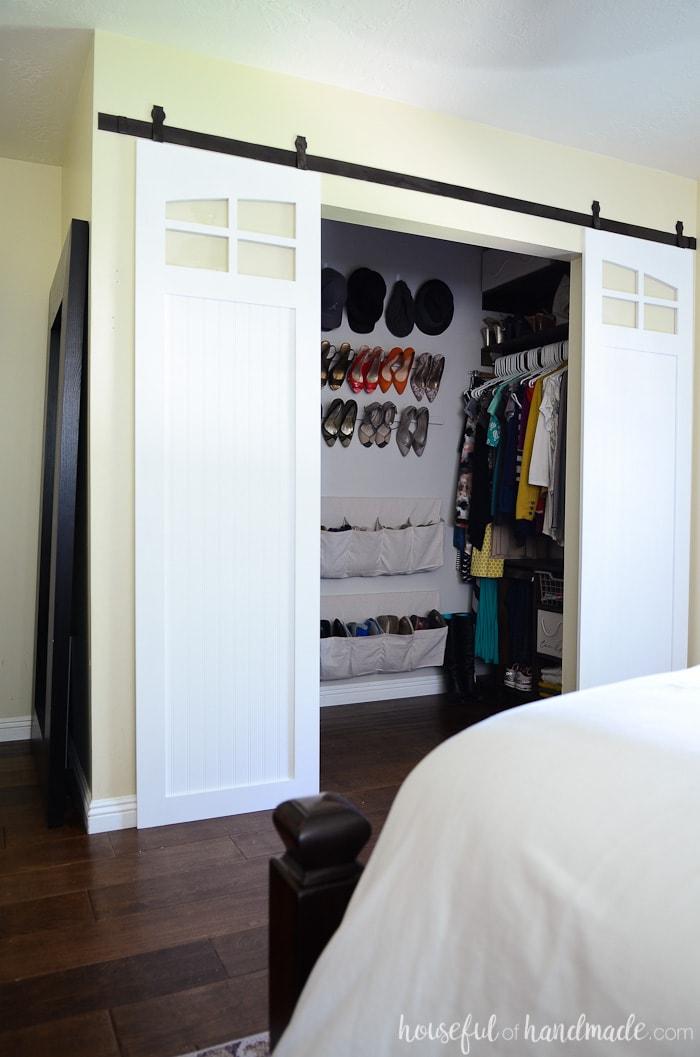 Closet Sliding Barn Doors Build Plans Houseful Of Handmade