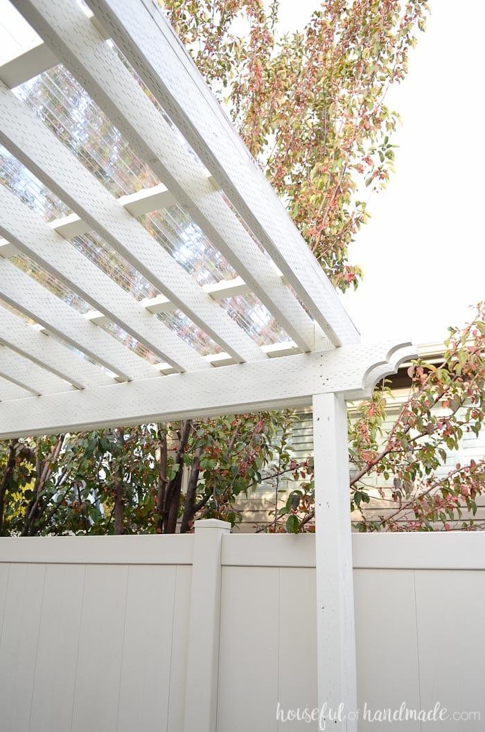 installing a clear pergola roof