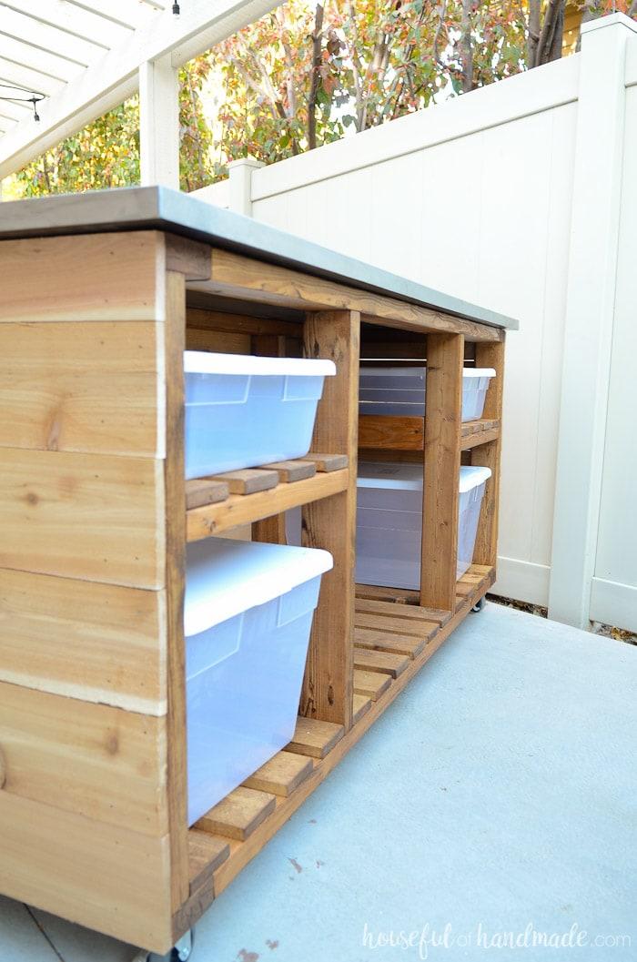 Outdoor Kitchen Island Build Plans Houseful Of Handmade