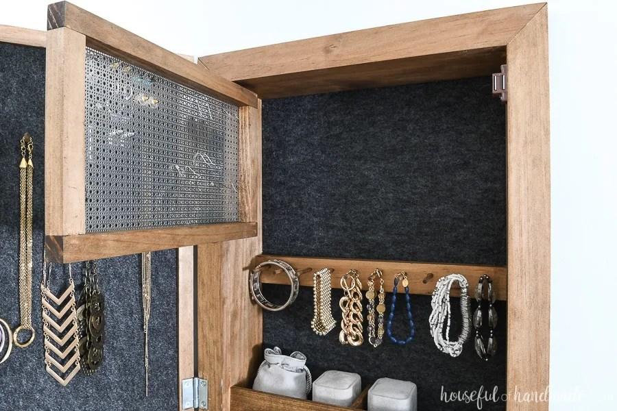 diy wall jewelry organizer houseful