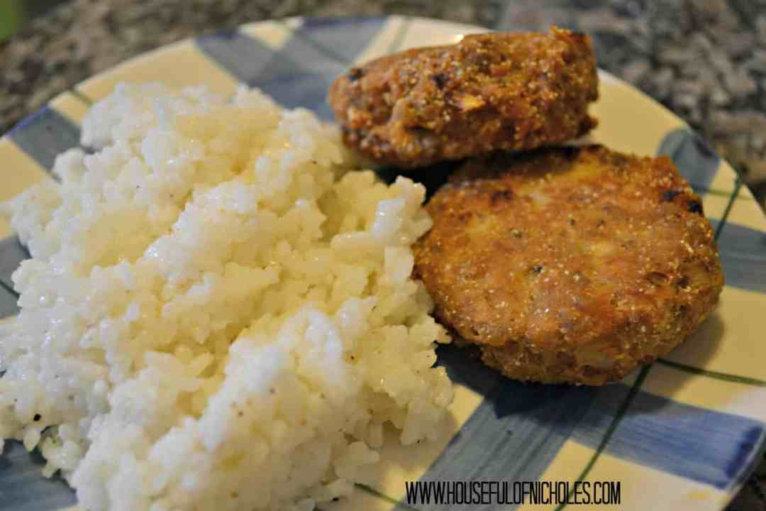 Salmon Croquette and Rice
