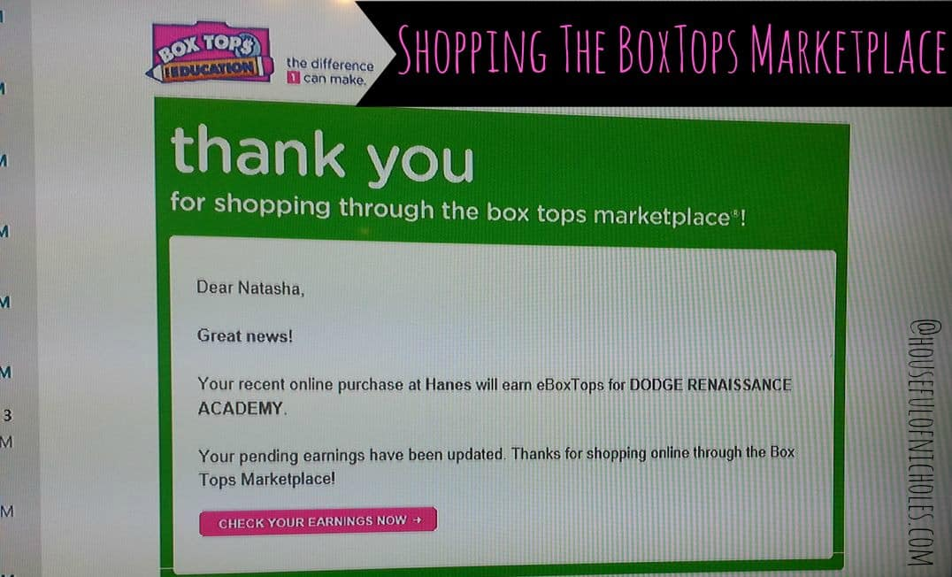 Box Tops Marketplace Email