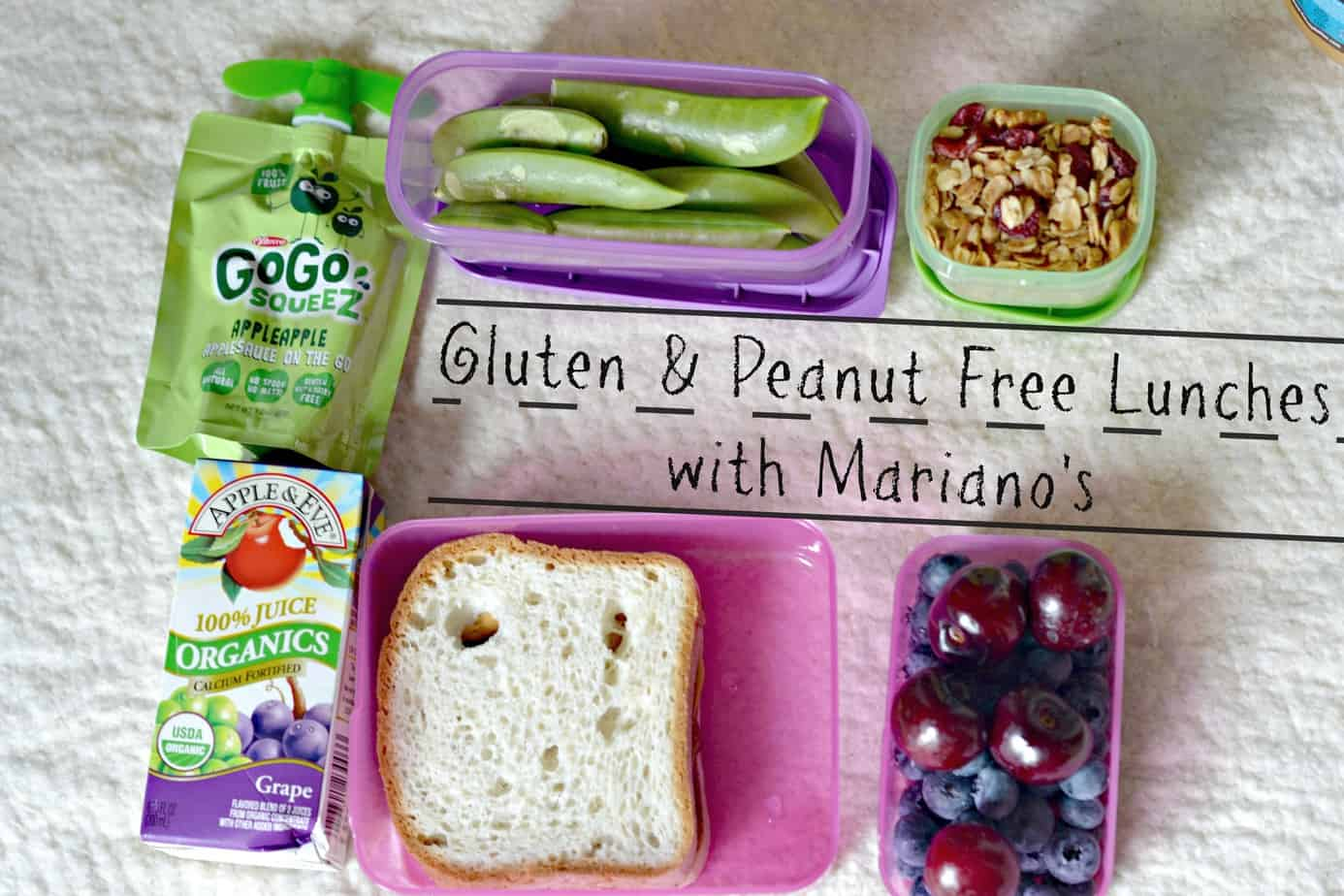 Gluten and Peanut Free Lunches #mymarianos #shop