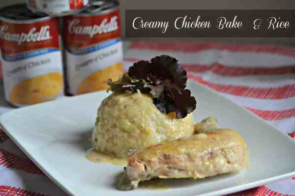Creamy Baked Chicken and Rice