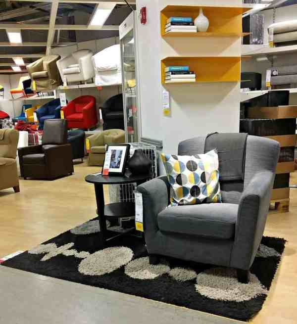 IKEA Grey/Yellow Living Room Combo