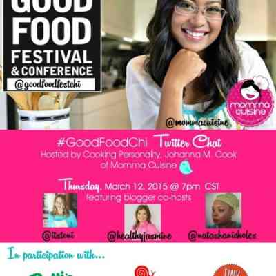 #GoodFoodChi Chat TONIGHT at 7pm with Good Food Festival Chicago