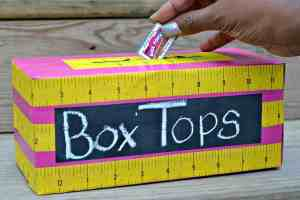 Box Tops Collection Bin