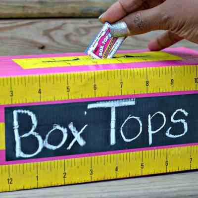 DIY Box Tops Collection Bin