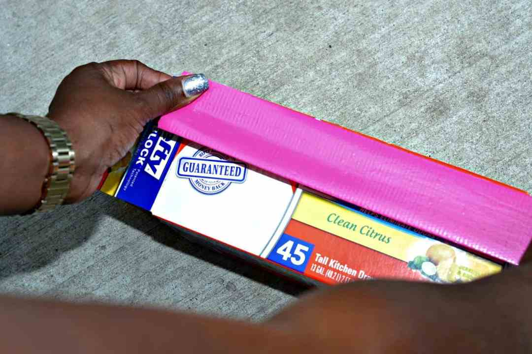 #Hefty4BoxTops-Pink-Duct-Tape