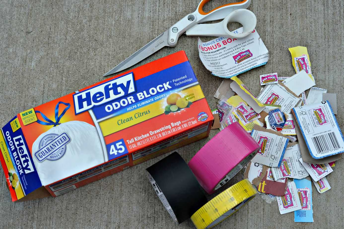 #Hefty4BoxTops-Supplies