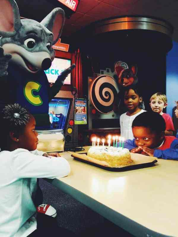 Chuck E Cheese birthday parties are magical!