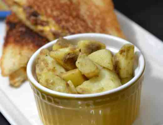 Grilled Cheese Burgers with Birds Eye Flavor Full Sour Cream and Onion Potatoes