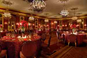 Red Lacquer Room at the Palmer House Hilton