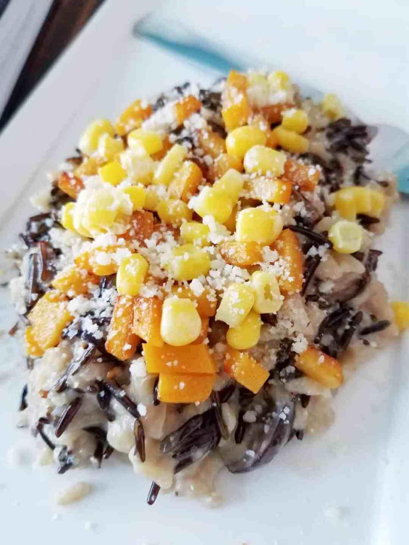 Corn and Butternut Squash Risotto