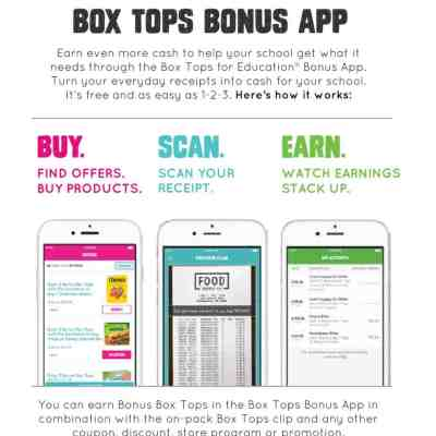 Use the Box Tops App to Get Back to School Ready! #BoxTops