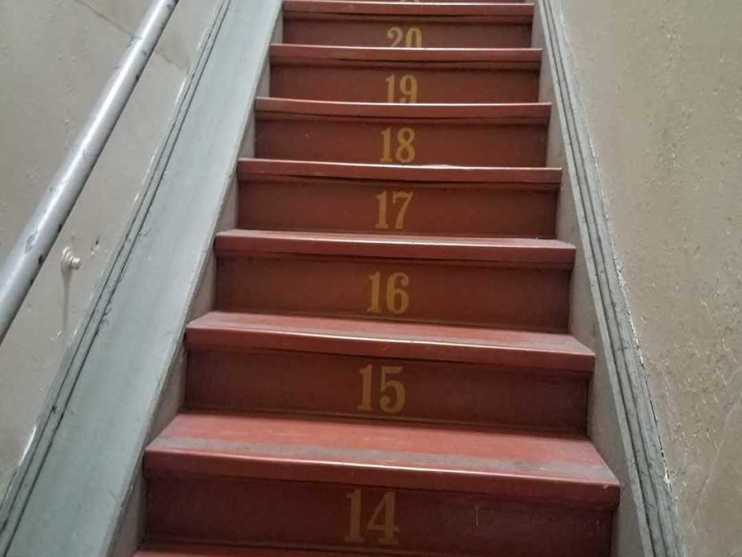 Numbered staircases