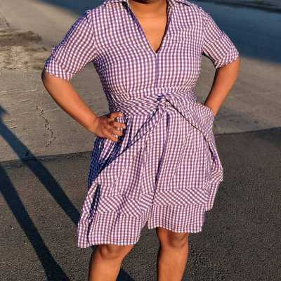 Purple Gingham Magic in the Air – Head to Toe True Playa!