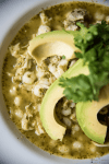 Chicken Posole Verde - a quick but hearty soup for chicken lovers