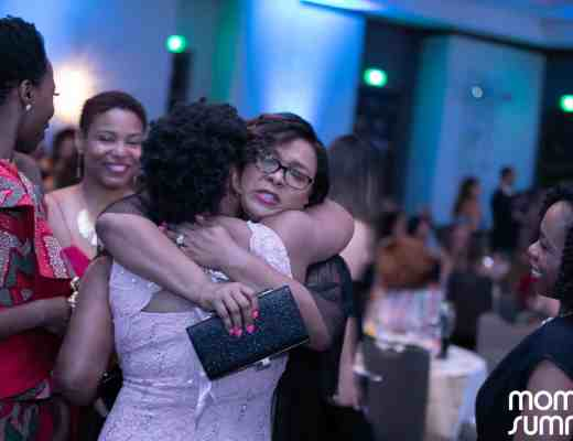 Natasha Nicholes hugging Latoyia Dennis