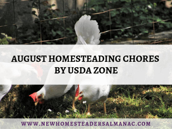 Homestead Blog Hop Feature - August-Homesteading-Chores-By-USDA-Zone