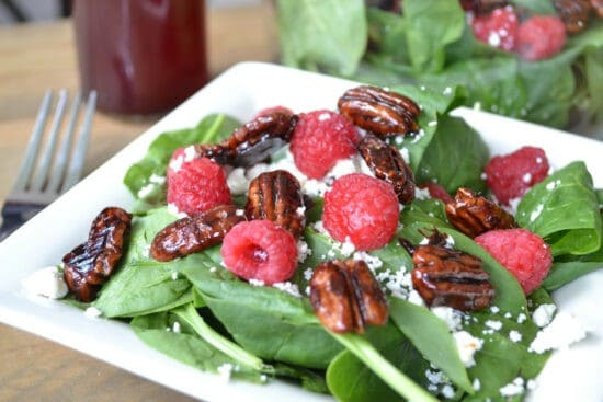 Homestead Blog Hop Feature - Raspberry-Spinach-Salad