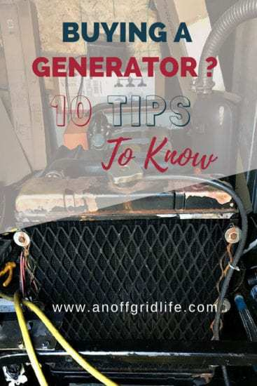 Homestead Blog Hop Feature - Buying a Generator - 10 Tips to Know