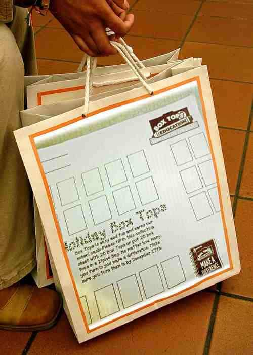Box Tops For Education Collection Bag