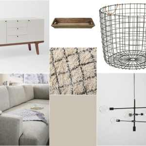 living room revamp mood board