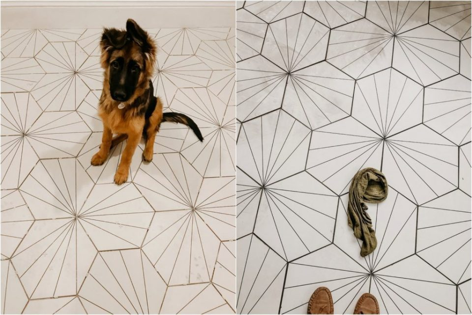 diy tile floor