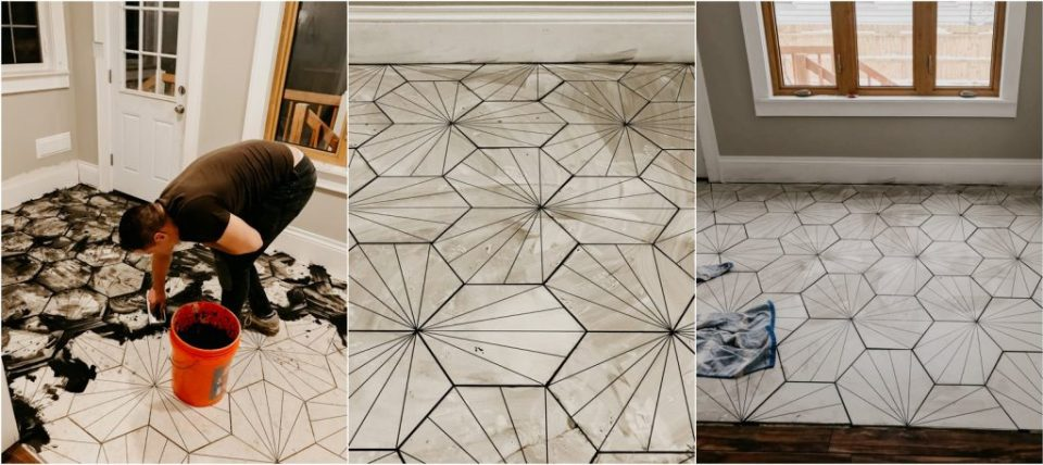 diy laying tile floor
