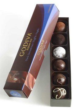 Godiva Chocolatier Assorted Dark Chocolate Truffles Gift Box, 6-Pieces