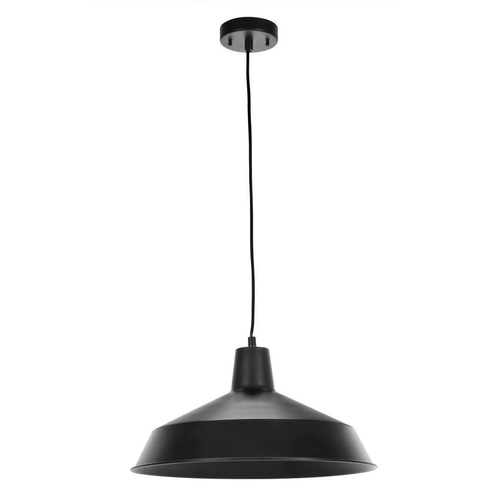 Matte Black Barn Light Pendant