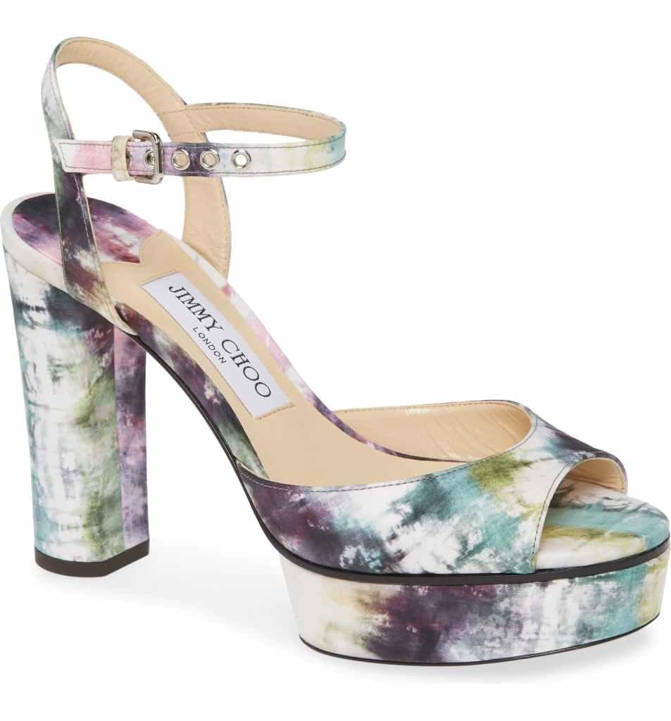 Peachy Tie Dye Platform Sandal