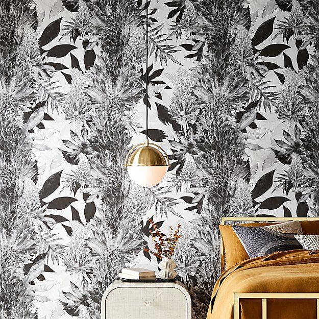 floral wallpaper CB2