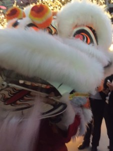 A Chinese dragon shimmied through the party at one point.