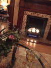 Complimentary evening tipple beside the fire at Kehoe House.